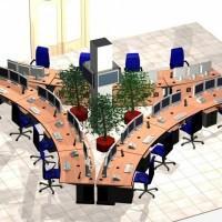plan biura z 12 stanowiskami